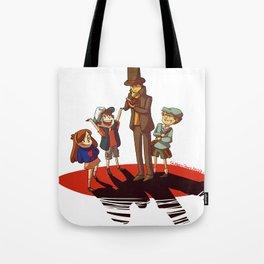 Layton in Gravity Falls Tote Bag