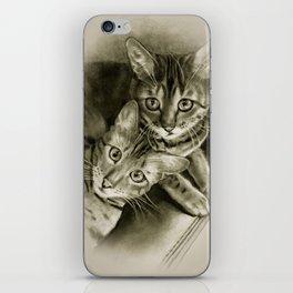Bengal Kittens Drawing iPhone Skin