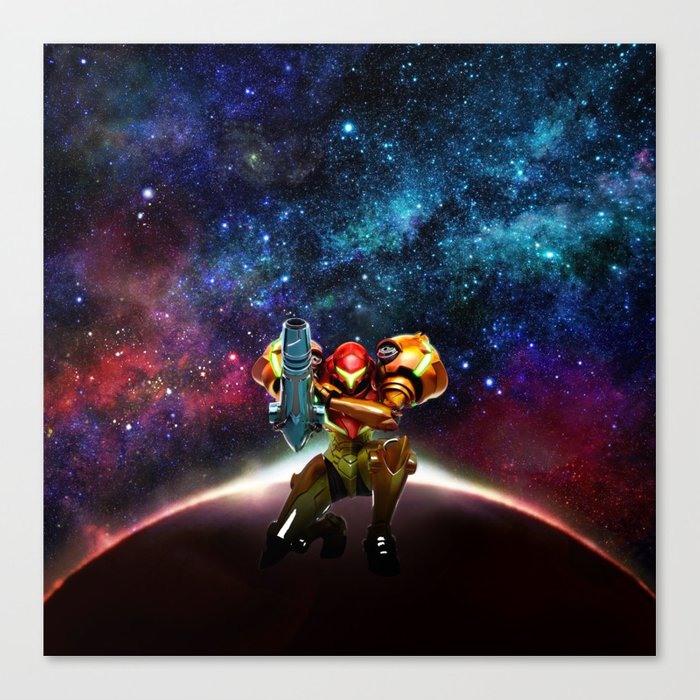 Metroid Samus Returns Canvas Print