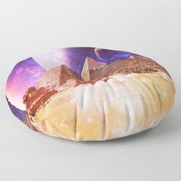 Galaxy Pyramids Floor Pillow