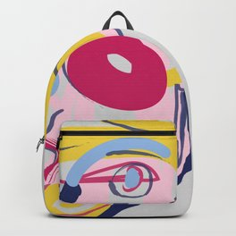 Big Blonde Guy - Modern Abstract Portrait Backpack