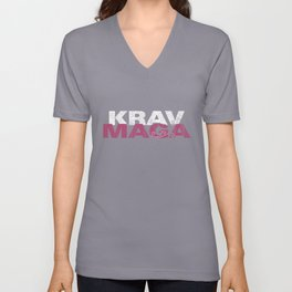Krav Maga Women Pink- IDF Army Martial Arts Unisex V-Neck