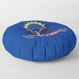 North Dakota State Flag Floor Pillow