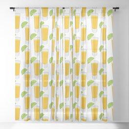 Tequila Shot Pattern Sheer Curtain