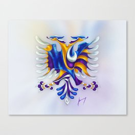 Kosovar (Albanian) Eagle Canvas Print