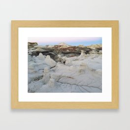 Badlands Blue Hour Framed Art Print