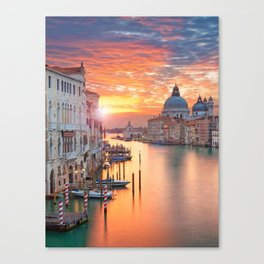 Sunset in Venice Canvas Print
