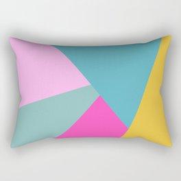 Bold Color Block Design Rectangular Pillow