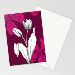 Autumn Tulips Stationery Cards