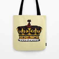 crown Tote Bags featuring Crown by Michael Keene