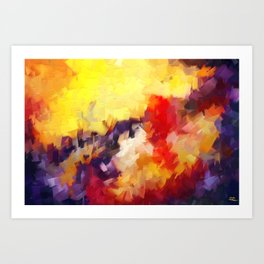 Abstract Impressions of an Abstract Art Print