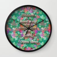 autumn is a second spring Wall Clock