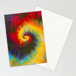 Tie Dye Marijuana Stationery Cards