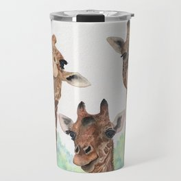 Giraffe's Family Portrait by Maureen Donovan Travel Mug