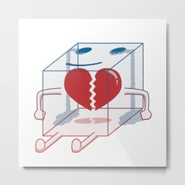 Little Box of Broken Heart Metal Print