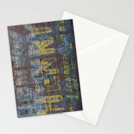 Faded Writing on a Brick Wall Henry on Route 66 in Galena Kansas Stationery Cards