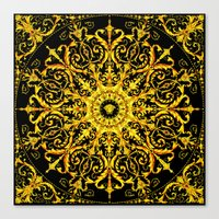 versace Canvas Prints featuring Versace Gold by Goldflakes