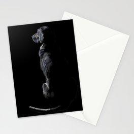 Black on Black Lab Stationery Cards