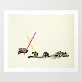 Let's Play Pick-Up Sticks Art Print
