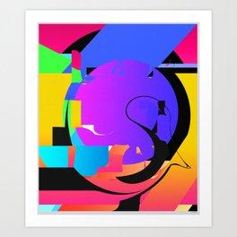 SHAPE/COLOR  DECONSTRUCT Art Print