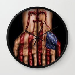 Blood of Hurricane Katrina Wall Clock