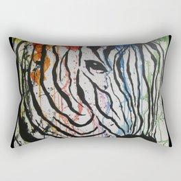 Splash of Zebra Rectangular Pillow