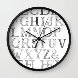 Forest ABC Wall Clock