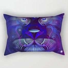 Zodiac neon signs — Leo Rectangular Pillow