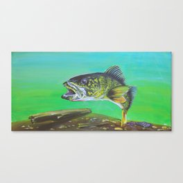 That's what all the pickerel say Canvas Print