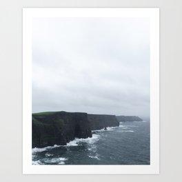 Endless Cliffs Art Print