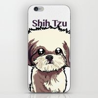 shih tzu iPhone & iPod Skins featuring Alice (Shih Tzu) by BinaryGod.com