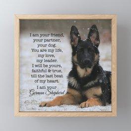 I Am Your German Shepherd Framed Mini Art Print