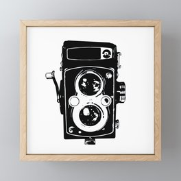 Big Vintage Camera Love - Black Framed Mini Art Print