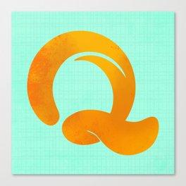 The Letter Q Canvas Print