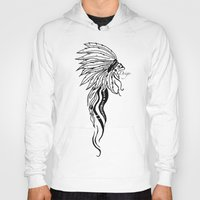 headdress Hoodies featuring Headdress by Drigo