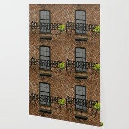 Savannah Warehouse Window Wallpaper