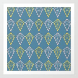 Niagara Geometric Diamonds Art Print