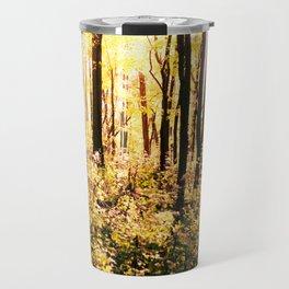 The Woods at Golden Hour Travel Mug