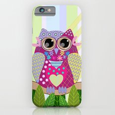 Cute Patterns Flower Power Owl iPhone 6 Slim Case