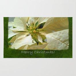 Pale Yellow Poinsettia 1 Merry Christmas P1F5 Rug