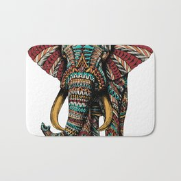 Ornate Elephant (Color Version) Bath Mat