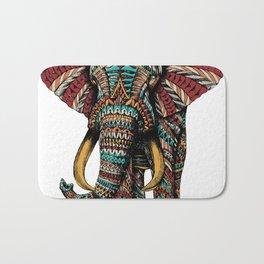 Ornate Elephant (Color Version) Bath Mat