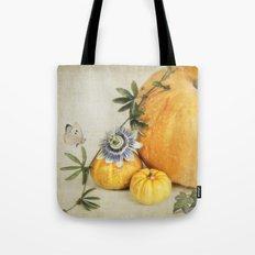 pumpkin & passiflora Tote Bag