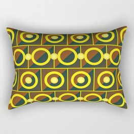 Tiled yellow circles Rectangular Pillow