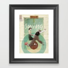 Swing Dance Framed Art Print