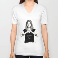 jared leto V-neck T-shirts featuring Jared Leto fan art by tayeichi