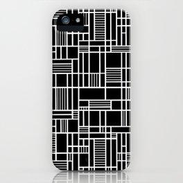 Map Lines Black iPhone Case
