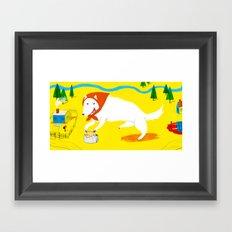 Big Bad Red Riding Wolf Framed Art Print