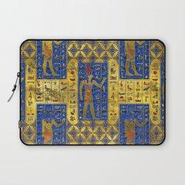 Egyptian  Gold  symbols on Lapis Lazuli Laptop Sleeve