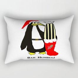 Bah Humbug Christmas Penguin Rectangular Pillow